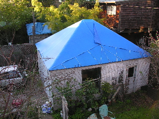 Thatu0027s My Brotheru0027s Blue Tarp Roof In Front And My Blue Tarp Roof In Back.  Yup, They Are Right Next Door To Each Other. We Are The Blue Tarp Roof  Enclave In ...